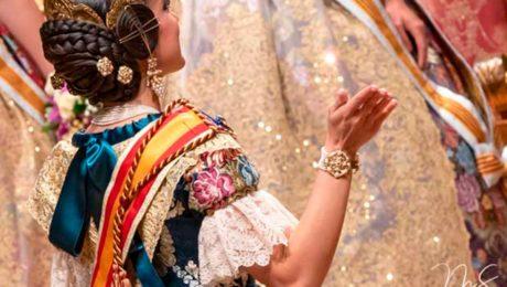 Puntillas de los trajes oficiales de las Falleras Mayores de Valencia 2019